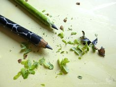 Selbst gemachte Bleistifte.