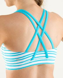 Coming soon...Twin Stripes Spry Blue Energy Bra