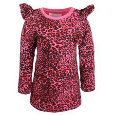 Flounce Dress Pink Leapoard, The BRAND