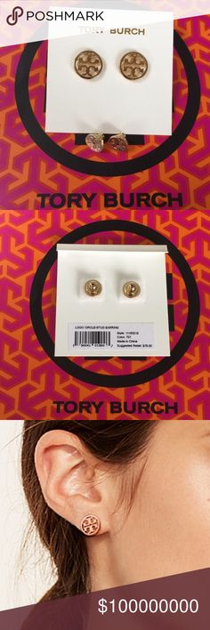 Tory Burch Circle Logo Stud Earrings 100% Authentic ☑ Brand New with tag; never used.   MSRP over $84 including tax.  No lowball. No trades. Tory Burch Jewelry Earrings