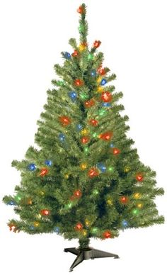 National Tree KCDR40RLOS Kincaid Spruce Tree with 100 Multi Lights 4Feet >>> This is an Amazon Affiliate link. Be sure to check out this awesome product.