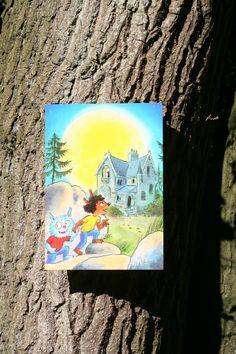 Reuzewenskaart (A4) Dolfje Weerwolfje 'spookhuis'