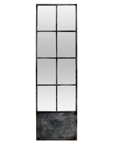 Shop the Jasper Industrial Loft Grey Metal Border Nine Pane Floor Mirror and other Floor Mirrors at Kathy Kuo Home Window Pane Mirror, Mirror Door, Wall Mirrors, Designers Guild, Farrow Ball, Chandeliers, Glass Partition Wall, Traditional Mirrors, Casamance