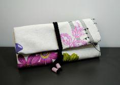 Stampa tessuto tabacco tabacco a mano, caso sacchetto, sacchetto di tabacco, donna Pouch