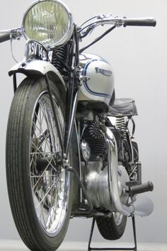 """Triumph 1939 """" Tiger 100 """" 498 cc OHV twin frame # TF1303 engine # 9T 100 16042 In 1936 the Triumph Cycle Co. that had been struggling for a number of years, was taken over by Jack Sangster and renamed Triumph Engineering Co.Ltd. Edward Turner became the new Works Manager and he immediately started ... Read more British Motorcycles, Triumph Motorcycles, Vintage Motorcycles, Custom Motorcycles, Indian Motorcycles, Custom Bikes, Bobber Motorcycle, Girl Motorcycle, Motorcycle Quotes"""