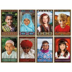 All Kinds of Kids: International Bulletin Board Set, NS-3031