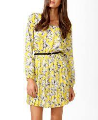 yellow floral dress - Buscar con Google