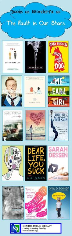 I loved The Fault in Our Stars! If you feel the same check out these books!