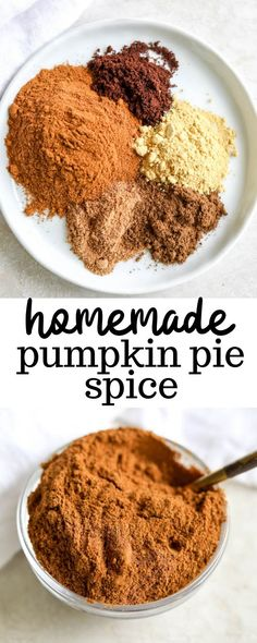 This homemade pumpkin pie spice recipe is the perfect DIY how to make recipe for all different uses like in oatmeal, coffee, and fall flavored baked goods. Holiday baking is much better with a homemade spice mix! Homemade Pumpkin Pie Spice Recipe, Easy Pumpkin Pie, Pumpkin Pie Bars, Homemade Spices, Homemade Seasonings, Pumpkin Pie Recipes, Baked Pumpkin, Fall Recipes, Pumpkin Spice