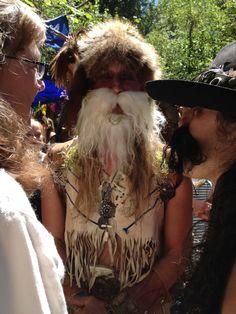mountain man at The Oregon Country Fair!