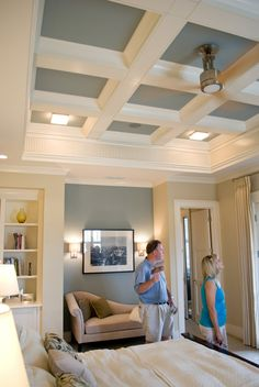 White Kitchen, Coffered Ceiling In Family Room | Dream Home | Pinterest |  Coffer, Ceiling And Kitchens