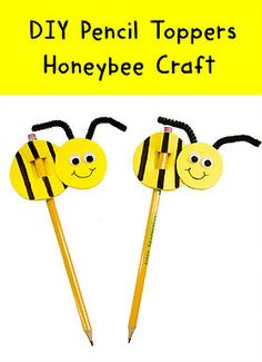 In this fun and simple DIY kids' craft video, you will learn about honeybees  and then how to make a bee pencil topper out of craft foam. BZZZ!