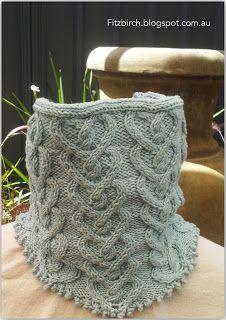 Picot Heart Neck Warmer - free knitting pattern
