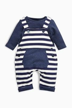 Buy Stripe Jersey Dungarees Set (0-18mths) online today at Next: United States of America