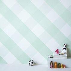 Bartsch Childrens Wallpaper: Lovely Gingham Mint Green