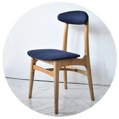Krzesło tapicerowane TYP 200-190 Projektant: Prof. Rajmund Teofil Hałas Producent: Paczkowska Fabryka Mebli – Paczków