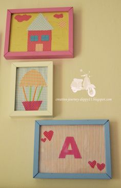 Handmade Children Frame!! Kids Room, Children, Creative, Frame, Handmade, Home Decor, Young Children, Picture Frame, Room Kids