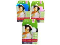 Body Glove Sponge - Case of 48 by Bulk Buys. $60.48. This simple and easy to use exfoliating body sponge slips easily into hand. Body sponge is made from nylon and has a strap for convenient storage. Comes in assorted colors including white, pink, green or blue. Comes packaged on a hanging panel.
