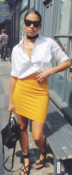 Sunskirt // @hm skirt , @riverisland Top , @zara Bag // Fashion Trend by hauteonlife