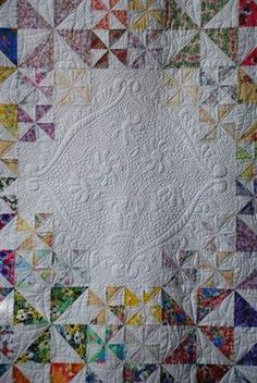 Carquinez Strait Stitchers 2013 Opportunity Quilt Center Medallion Just LOOK at the quilting on this! Beautiful!