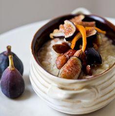 Inspired Breakfast Risotto. Arborio Rice, Citrus, Figs.