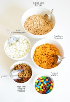 Back-to-School Snack Mix Ingredients - perfect kids snack for the after school snack!