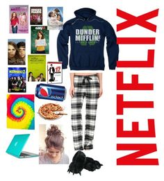 """""""Netflix and stay in your bed"""" by chloeyolo ❤ liked on Polyvore featuring P.J. Salvage, Speck and Colortone"""