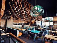 In Ashford, about 90km south east of London, a new Nando's chain restaurant fuses texture, colour and cuisine.