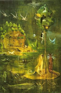 Untitled, c.1949-50.  Leonora Carrington (1917 - 2011), b. UK. Mexican Surrealist, writer, sculptor, and painter.