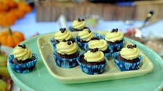 Rocco DiSpirito's Chocolate Brownie Cupcake with Cream Cheese Icing and Chocolate Chips - Gluten Free