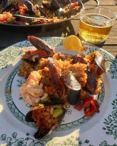 Seafood paella perfect with a lovely cold beer Ballymaloe Cookery School, Seafood Paella, Lettuce Leaves, Private Chef, Restaurant Kitchen, Confectionery, Catering, Menu, Butter