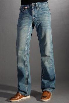 Men's True Religion Bootcut Jeans Light Blue