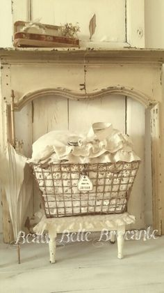 Found a wire basket like this, very galvanized and vintage looking at Michael's Craft Store. Lined it with moss, 'raised the bottom' with green florist foam blocks and added two pots of begonias. Adorable!