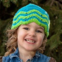 Premier Yarns Knit for Kids Chevron Cap to Crochet