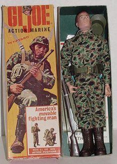 created in 1964 GI JOE ACTION MARINE FIGURE