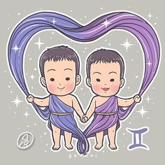 SeoEon & SeoJun as ♊ Gemini