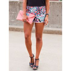 WithChic Multicolor Dots Print Elastic Waist Pom Pom Shorts ($16) ❤ liked on Polyvore featuring shorts, colorful shorts, elastic shorts, pom pom shorts, multi colored shorts and elastic waistband shorts