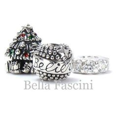 CHRISTMAS IN JULY COMING SOON... Only at Bella Fascini on Amazon.com.  Solid 925 Sterling Silver European Charm Beads - Compatible Brand Bracelets : Authentic Pandora, Chamilia, Moress, Troll, Ohm, Zable, Biagi, Kay's Charmed Memories, Kohl's, Persona & more!: