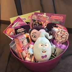 Gift Basket by Connie's Creations - Online Store Powered by Storenvy Candy Gift Baskets, Themed Gift Baskets, Diy Gift Baskets, Candy Gifts, Valentines Day Baskets, Valentines Diy, Easter Crafts For Kids, Toddler Crafts, Boyfriend Crafts