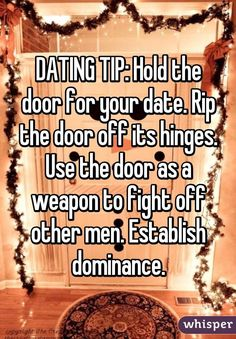 Funny dating advice for men