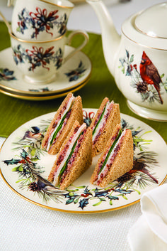 These Smoked Turkey and Cranberry Cream Sandwiches are a delightful addition to any holiday tea event.
