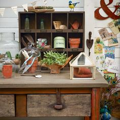 Garden-inspired utility room | Utility room decorating ideas | Utility room | Country Homes & Interiors | IMAGE | Housetohome.co.uk