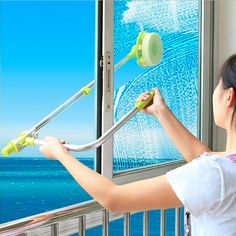 NEW-Window Glass Cleaner Brush Wiper Double Cleaning Magnetic Tool Surface Side #WindowGlass #Hand