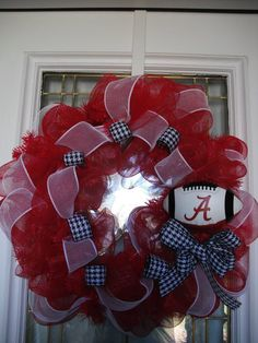 Alabama Football Wreath