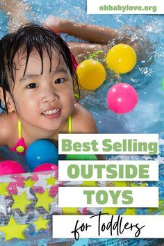 20+ Outside Toys your Children will LOVE including toys that are great for toddlers! This list includes outdoor toys that include classics as well as newer toys! Price ranges for anything you are looking for. Toddler Toys, Toddler Activities, Outside Toys For Toddlers, Best Outdoor Toys, 2 Year Olds, Water Toys, Parenting Toddlers, Ride On Toys, Backyard Games
