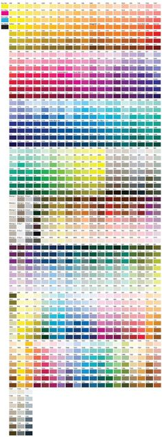 Color Chart ( Pantone / PMS ) - not pms, i take it! This is very color-rich, extravagant!