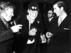 Harry Secombe and Spike Milligan 'ave a right royal laugh with Prince Charles, at the launch of the second book of 'The Goon Show' at the Eccentric Club, November Spike Milligan, Comedy Show, Prince Charles, Comedians, Cool Pictures, Laughter, Two By Two, Product Launch, Memories
