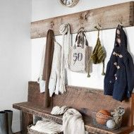 Country Rustic Mudroom - Design photos, ideas and inspiration. Amazing gallery of interior design and decorating ideas of Country Rustic Mudroom in bedrooms, home exteriors, laundry/mudrooms by elite interior designers. Laundry Mud Room, Decor, Home Diy, Entryway Coat Rack, Interior, Rustic White, Home Decor, Entryway, White Decor