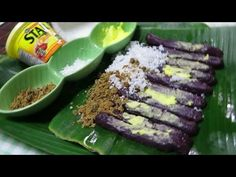 Puto bumbong rice log