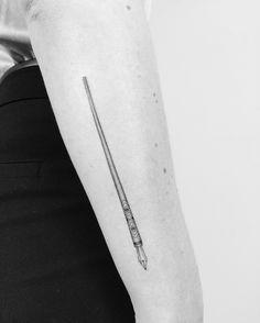 My elegant fountain pen tattoo. Fineline dotwork tattoo